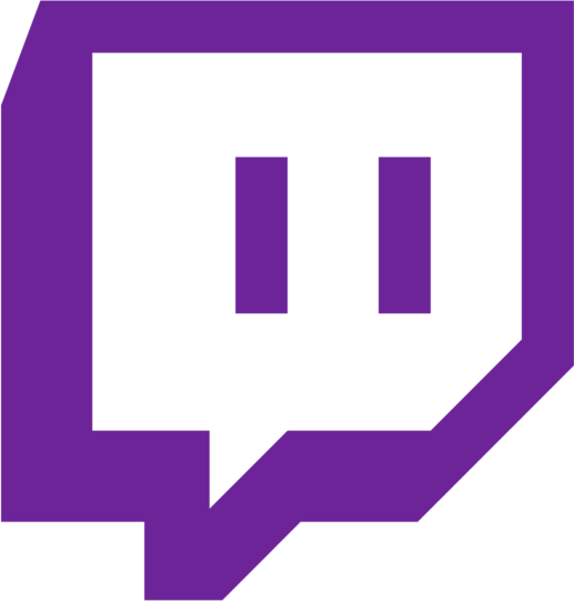 Purple Twitch glitch logo